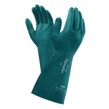 安思尔Ansell 丁腈防化手套,58-335-9,Aquadri系列 干爽吸汗型38cm,1副