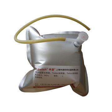 气体取样袋,10升 铝箔复合膜 单PP阀配取样垫,A-P-10L