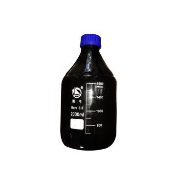蜀牛蓝盖试剂瓶(棕色),耐高温140℃,2000ml