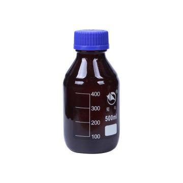 蜀牛蓝盖试剂瓶(棕色),耐高温140℃,500ml