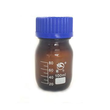 蜀牛蓝盖试剂瓶(棕色),耐高温140℃,100ml