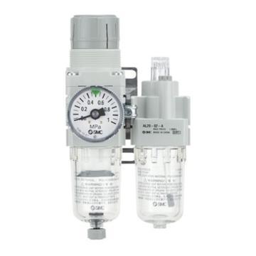 """SMC 二聯件,接管Rc1/4"""",自動排水,有壓力表,AC30A-02DG-A"""