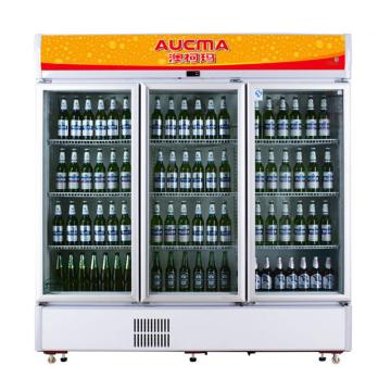 三门冷藏立式啤酒柜,澳柯玛,SC-1009,0~10℃,1900*587*1977