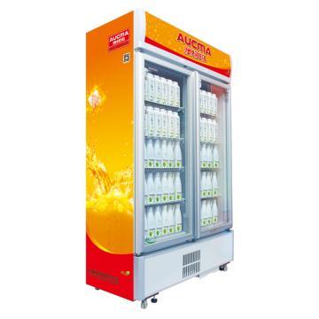 双门冷藏立式啤酒柜,澳柯玛,SC-609GP,0~10℃,1180*587*1983,厂家直发上门(除新疆、西藏)
