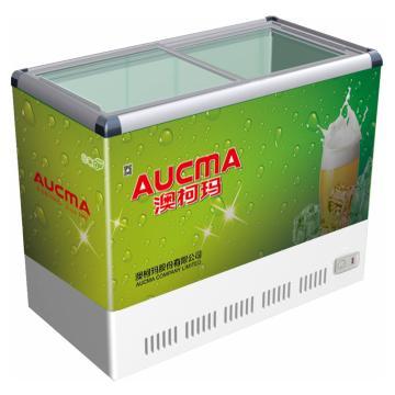 透明门卧式冷藏冷冻转换啤酒柜,澳柯玛,SC/SD-200B,+8~-18℃,1006*584*842