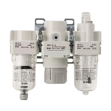 SMC 三聯件,過濾+調壓+油霧器,AC40-04D-B