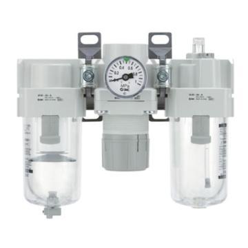 SMC 三联件,过滤+调压+油雾器,AC40-04CG-B