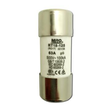茗熔 熔断器,RO17 100A
