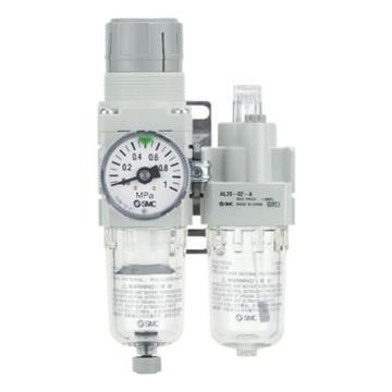 SMC 二联件,过滤调压+油雾器,AC20A-02G-B