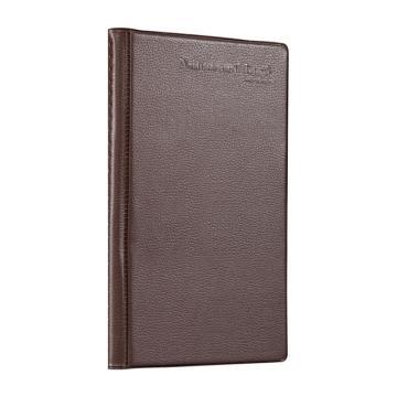 齐心 办公必备硬皮名片册,A1557 240枚 棕 单个