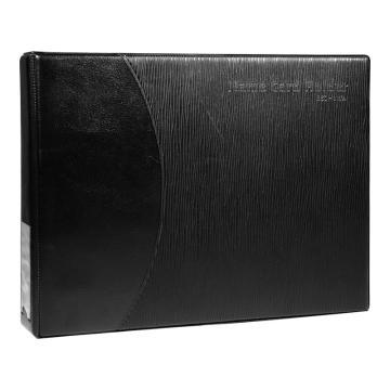 齊心 易分類大容量商務名片冊,A1611 2孔夾360枚 黑 單個