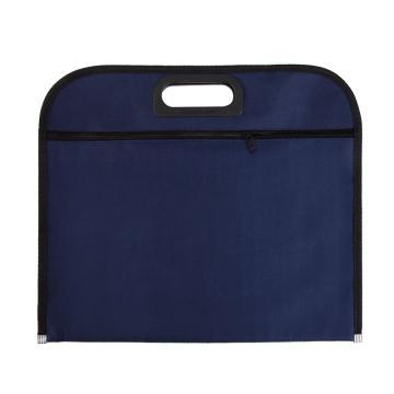 齊心 會議專用織布袋,A1669 A4雙袋 藍 單個