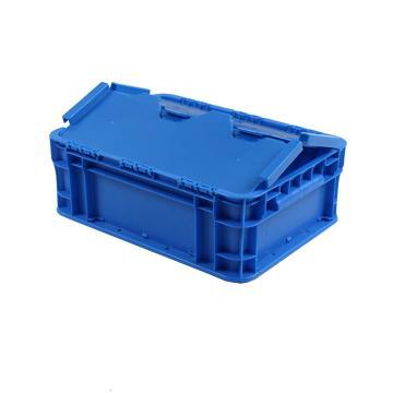 迅盛 防塵物流箱,藍色,內尺寸:550*350*260,外尺寸:600*400*280
