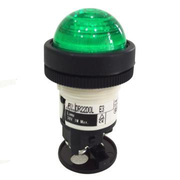 富士FUJI 绿色指示灯,DR22D0L-E3-G