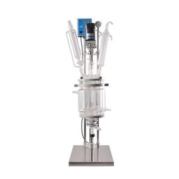 双层玻璃反应釜,物料容积(L)5
