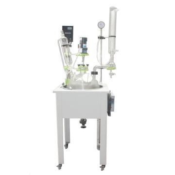 单层玻璃反应釜,物料容积(L)100