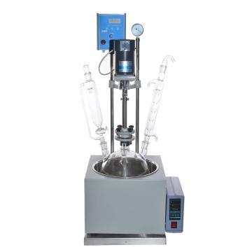 单层玻璃反应釜,物料容积(L)5