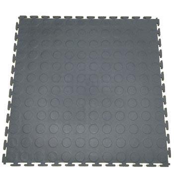 耐磨耐压防滑工业地板砖,PVC   黑色圆点500*500*6.5mm