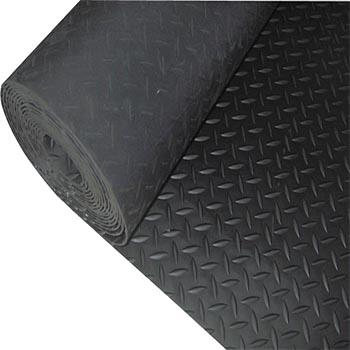 爱柯部落走道垫,耐磨防滑钢花纹橡胶走道垫,(厚度3MM) 90*150cm 单位:片