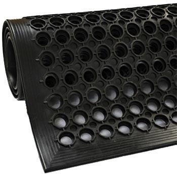 抗疲劳垫,安全防滑抗疲劳孔垫, 黑 915*1524*11mm