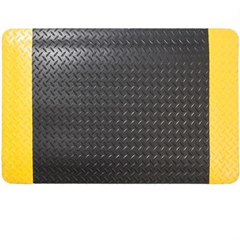 爱柯部落抗疲劳垫,耐磨型抗疲劳垫,黄黑边 60cm*90cm*15mm 单位:片