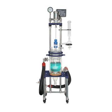 单层玻璃反应釜5L