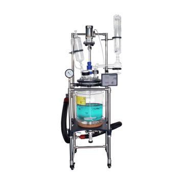 单层玻璃反应釜10L