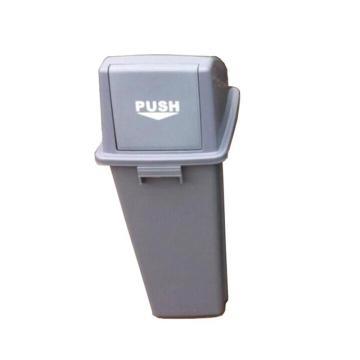 方形分类回收桶,50L,浅灰
