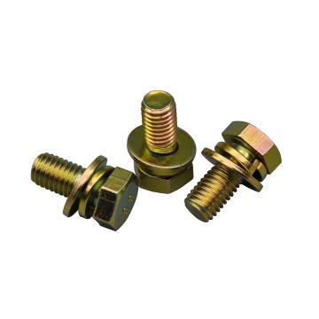 西域/EHSY 8.8级外六角三组合螺丝,彩锌,M12*50,50个/包