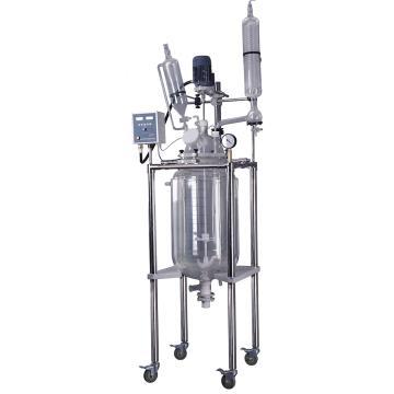 予华 双层玻璃反应釜,托盘型,转速:0-650rpm,YSFT-80L