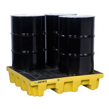 JUSTRITE/杰斯瑞特 四桶盛漏托盘28634 容量276升 承载最大重量2268KG 1245*1245*260mm(嘉士伯专供)