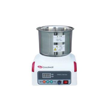 磁力攪拌浴,溫度范圍:RT+5~200℃,集熱式恒溫,轉速:0-2000rpm,容積:1L,HWCL-1