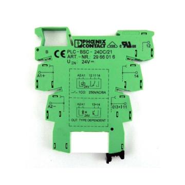 菲尼克斯 中间继电器底座,PLC-BSC-24DC/21