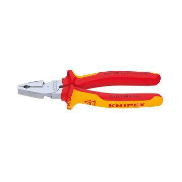 凱尼派克 Knipex 鋼絲鉗,180mm絕緣省力型,02 06 180
