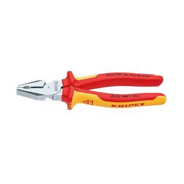 凯尼派克 Knipex 钢丝钳,200mm绝缘省力型,02 06 200