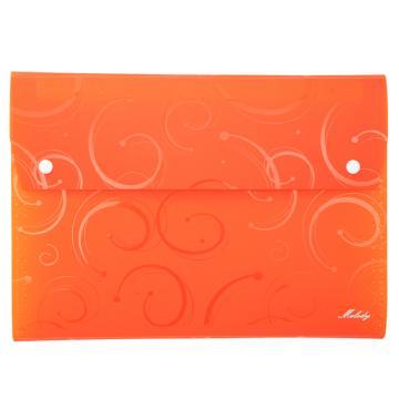 齐心 A6106 E纹melody A4 12格风琴包 橙