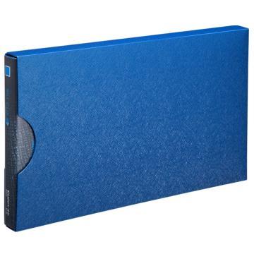 齐心 美石财务专用增值税发票夹,A611 配外壳 钛蓝 单个