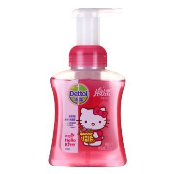 滴露hello kitty猫泡沫洗手液,250ml,单位:瓶
