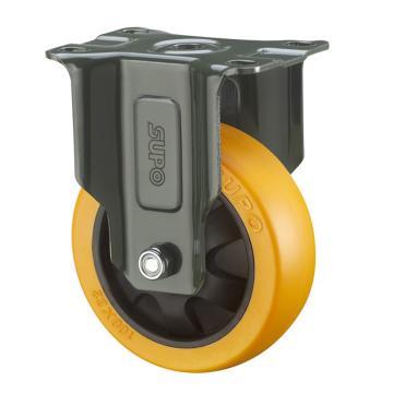SUPO 03S款墨绿5寸固定双轴承橙色PU轮 J03S-04-125-222