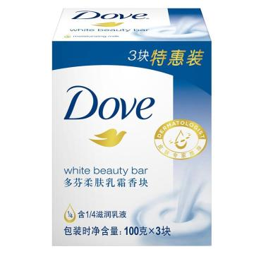 多芬(DOVE)柔膚乳霜香塊,100g*3 單位:組