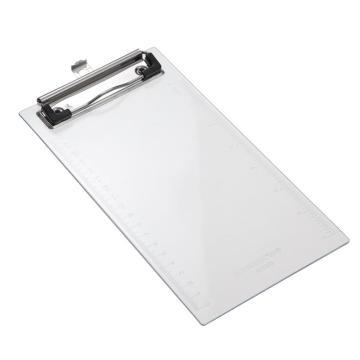 齐心 透明平板夹,A7003 点菜夹 透明 单个