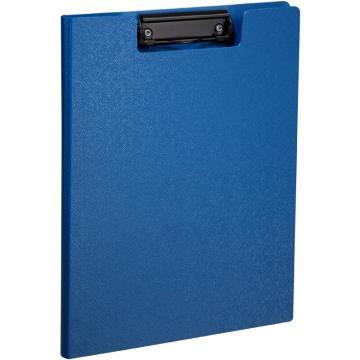 齐心 美石双折式板夹,A723 A4 钛蓝 单个