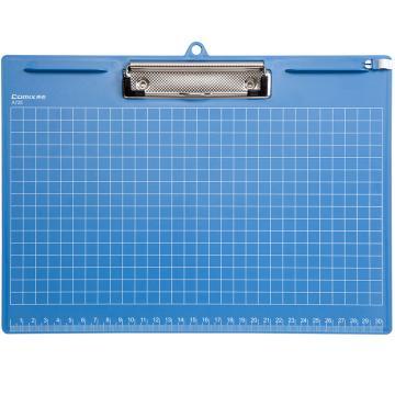 齐心 便携式书写板夹,A725 A4 横式 蓝 单个