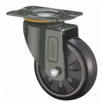 SUPO 03S款墨绿4寸平底活动特尔灵黑色HR轮 J03S-01-100-733