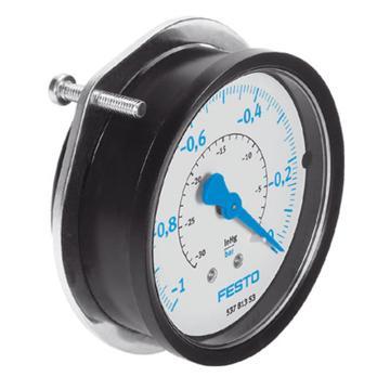 费斯托FESTO 真空压力表, G1/4 ,-1至0 bar,FVAM-63-V1/0-G1/4-EN,537813