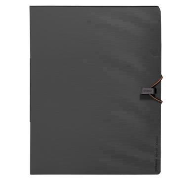 齐心 Gemini6袋文件袋,A7622 A4 深灰 单个