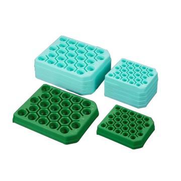 PP离心管架,15ml,荧光绿色,未消毒,5只/袋,50只/箱