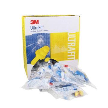 3M 可重复使用耳塞,340-4002,Ultrafit 圣诞树型硅胶材质 带线 配外盒,50副/盒