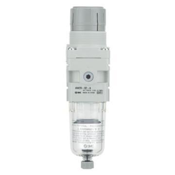 """SMC 过滤减压阀,接管Rc1/8"""",无表带托架,手动排水,AW20-01B-A"""