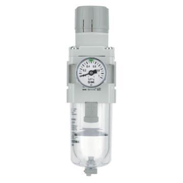 """SMC 过滤减压阀,接管Rc1/4"""",带表无托架,自动排水,AW30-02DG-A"""